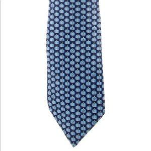 Hermès Blue Pumpkin Silk Tie